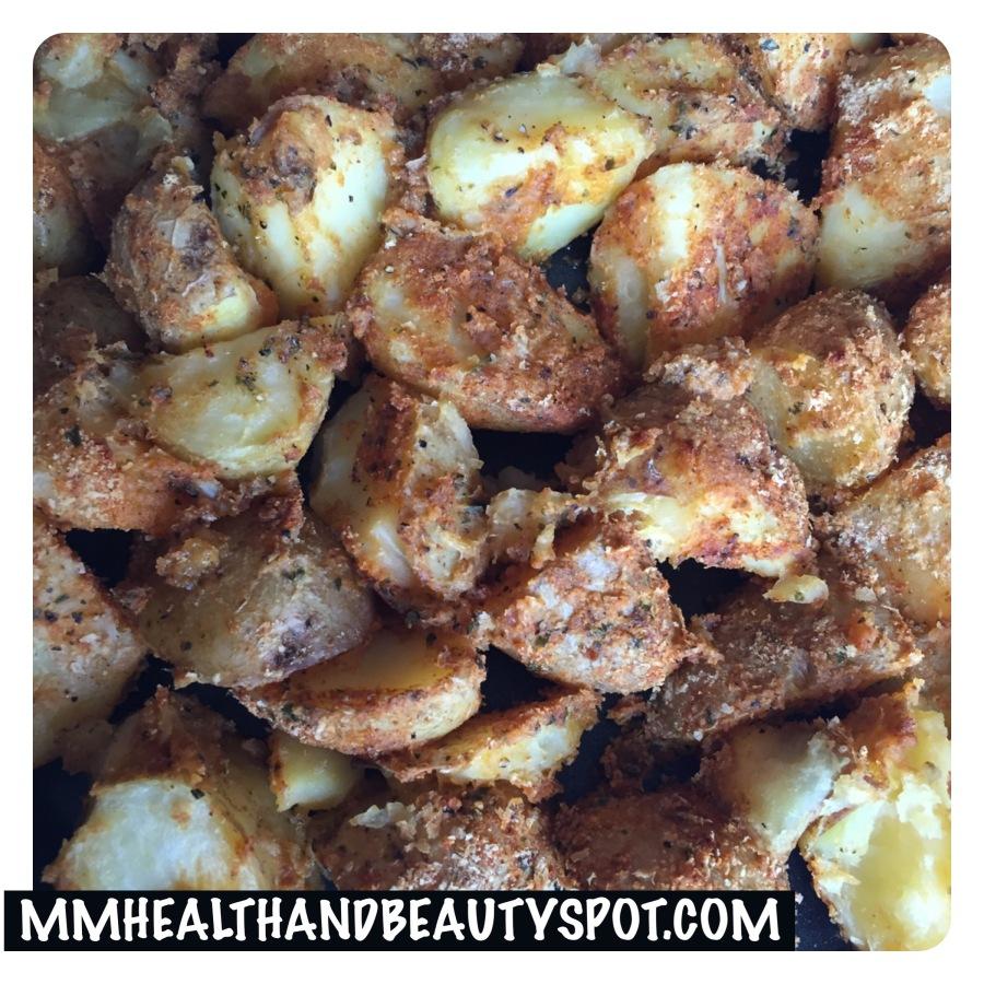 Kruimelig, knapperig en zachte aardappeltjes uit deoven